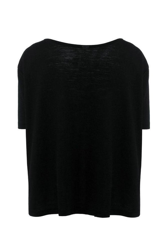 Black A-Line Short Sleeve T-Shirt-Asmuss-MAMOQ