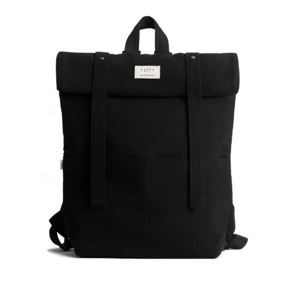 Black Canvas Rolltop Backpack-Tale Of The Future-MAMOQ