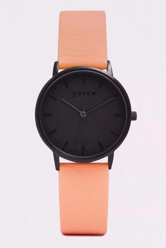 Black Face & Coral Strap-Votch-MAMOQ