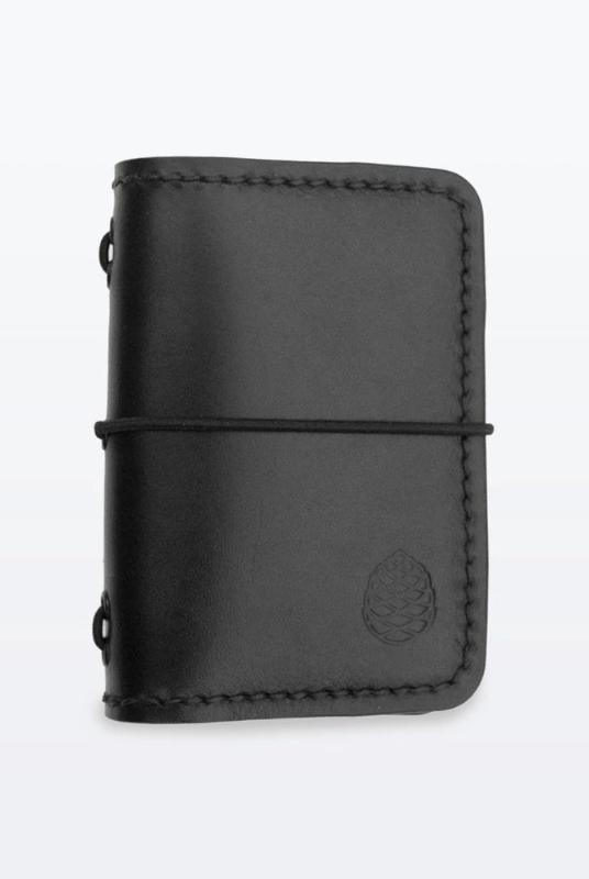 Black Leather Card Holder Wallet-The Level Collective-MAMOQ