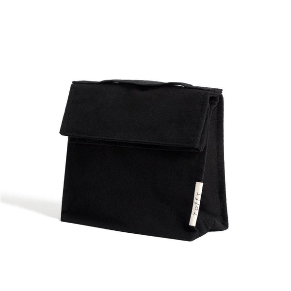 Black Natural Cotton Lunch Bag-Tale Of The Future-MAMOQ