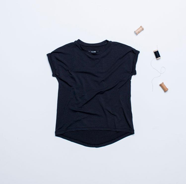 Black Organic Cotton Ethical T-Shirt-Zola Amour-MAMOQ