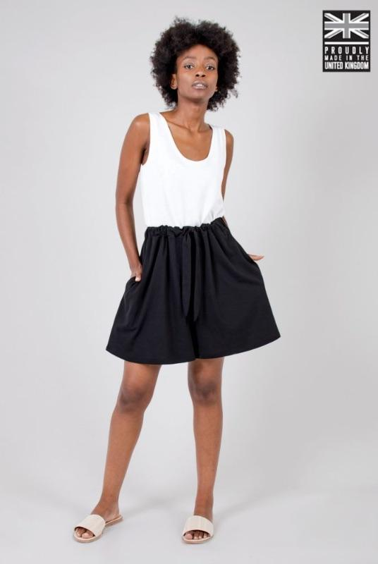 Black Organic Cotton Shorts-Zola Amour-MAMOQ