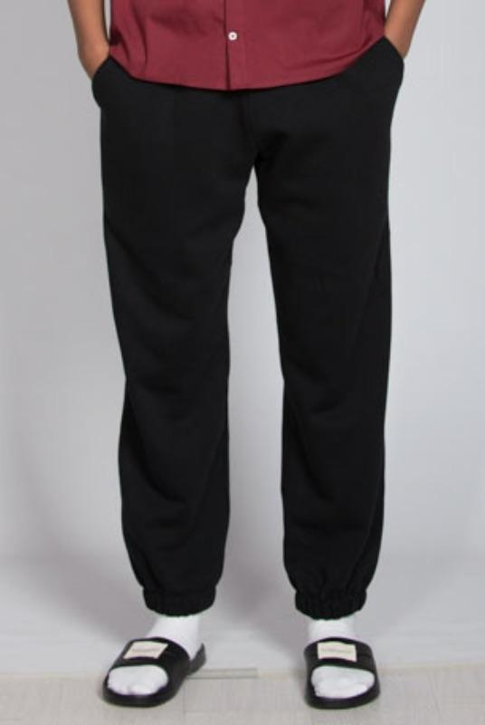Black Organic Cotton Sweatpants-Rozenbroek-MAMOQ
