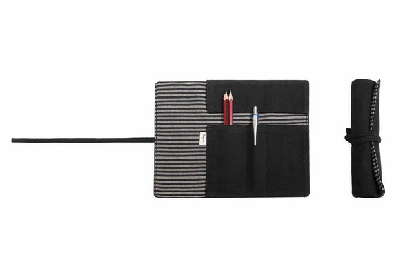 Black Roll Up Pencil Case-Tale Of The Future-MAMOQ