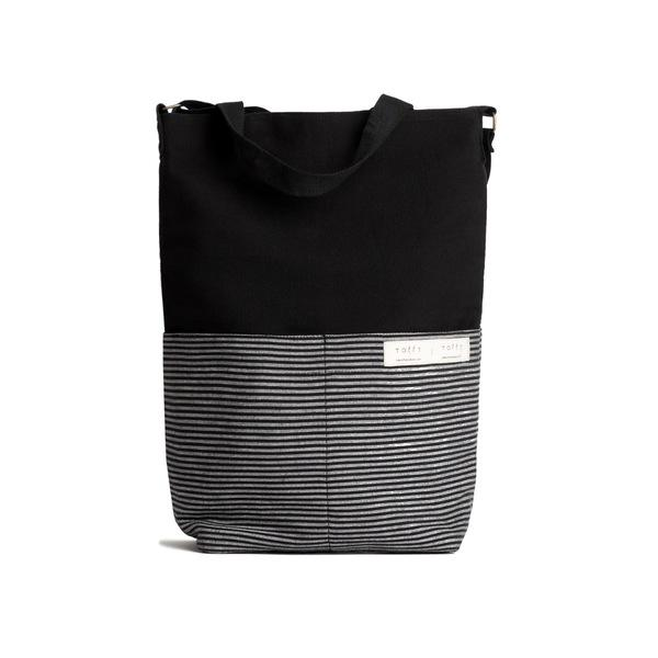 Black Tote Bag-Tale Of The Future-MAMOQ