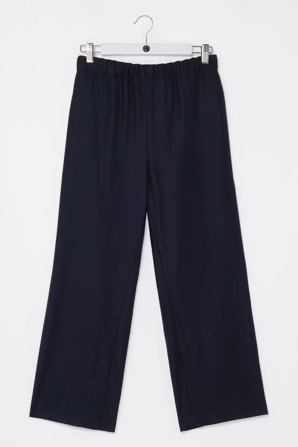 Blue Cropped Trousers-Elsien Gringhuis-MAMOQ