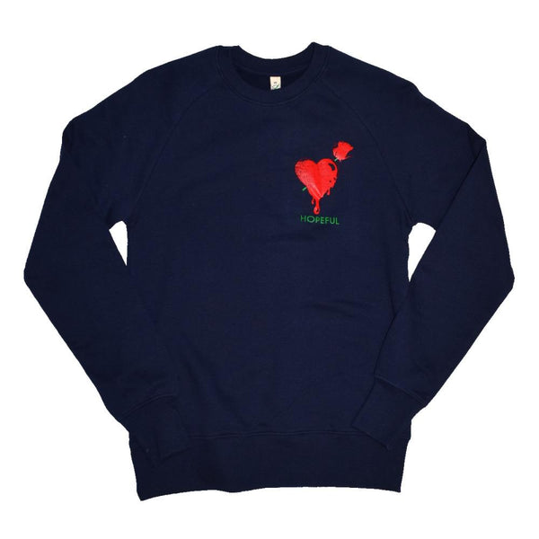 Brandon's Heart Organic Sweat // Navy-Hopeful Traders-MAMOQ