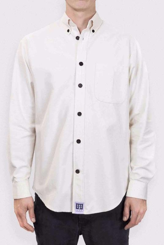 Brushed Organic Cotton Shirt-Lyme Terrace-MAMOQ