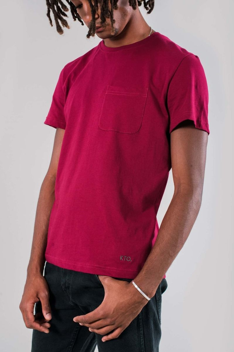 Burgundy Agra T-Shirt-Know The Origin-MAMOQ