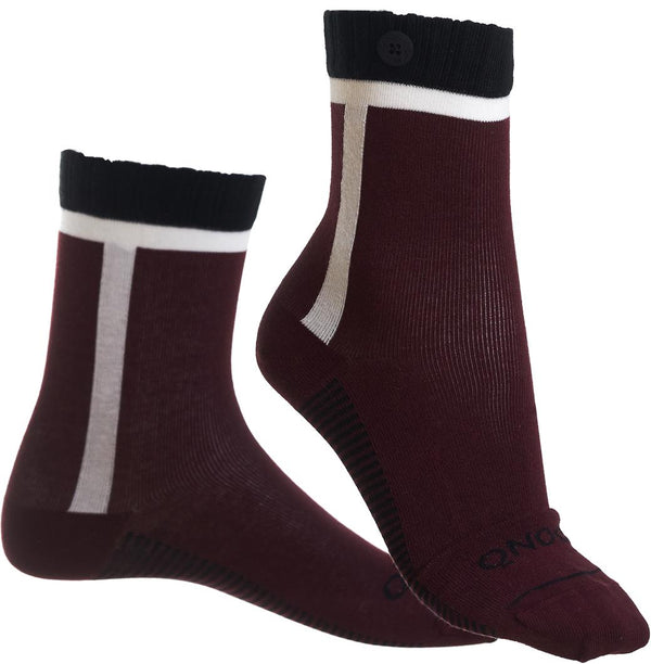 Calgary Wine-red Organic Cotton Socks-Calgary-Qnoop-MAMOQ