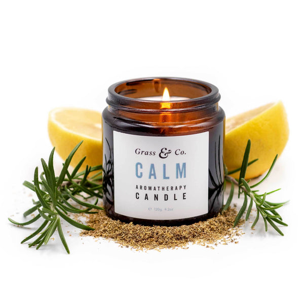 CALM Aromatherapy Candle-Aromatherapy Candle-Grass & Co.-MAMOQ