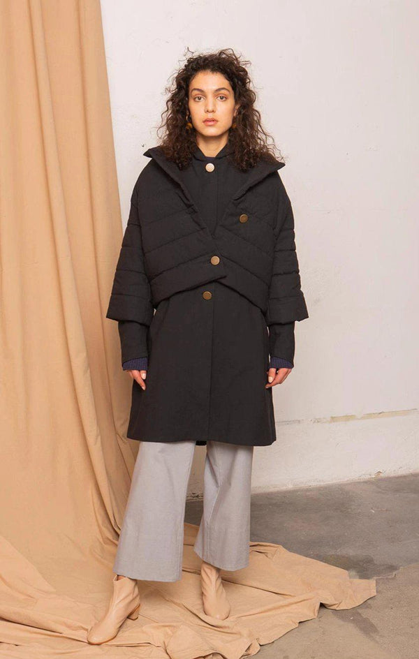 Capsule Coal Black Jacket-Jackets & Coats-TAUKO-MAMOQ