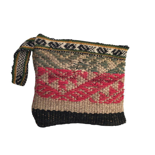 Caraz Handwoven Wool Clutch Bag-Untold Treasures-MAMOQ