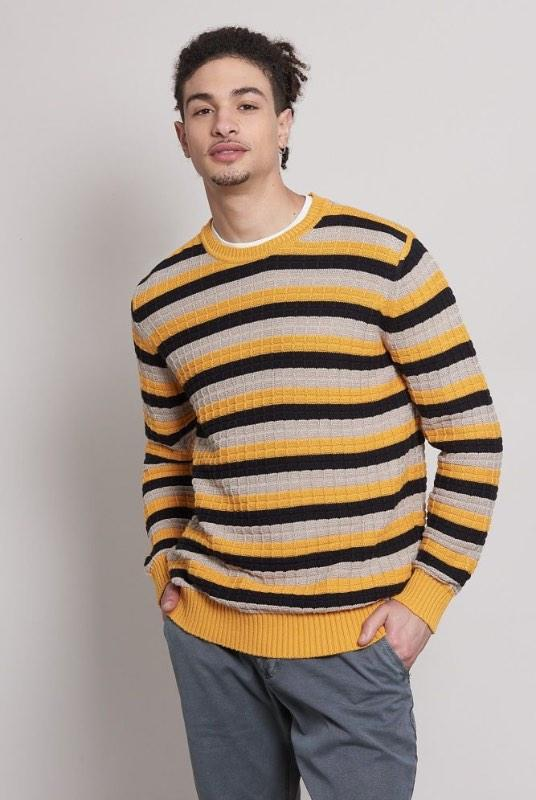 Cargo Striped Organic Cotton Jumper-Komodo-MAMOQ