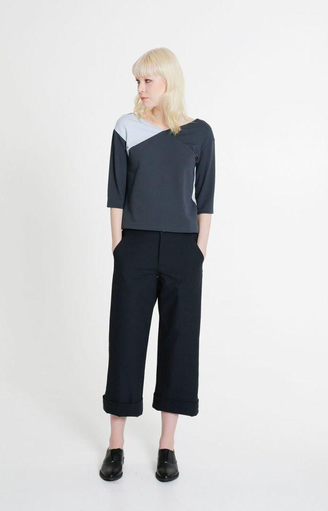 Cargo Trousers Coal Black-TAUKO-MAMOQ