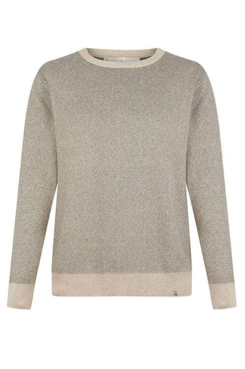 Carl Contrast Organic Cotton Knitted Jumper-Komodo-MAMOQ