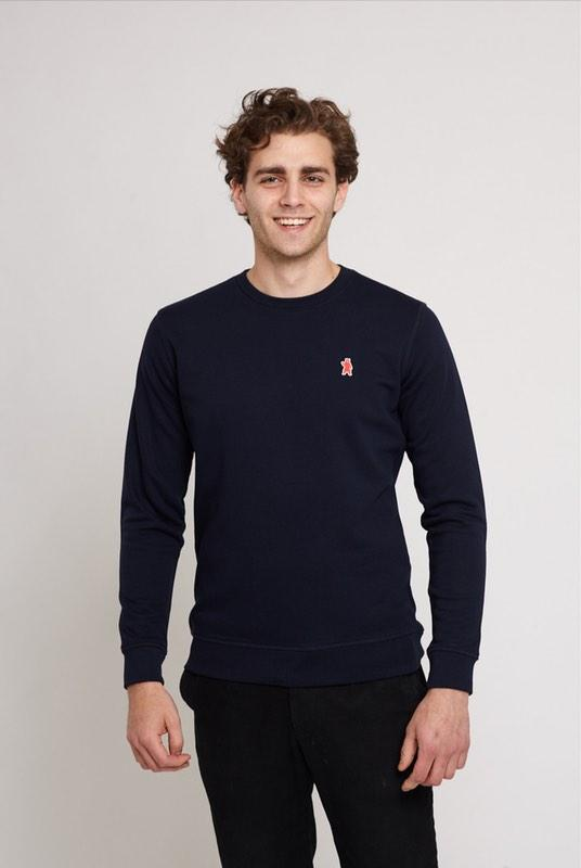 Carlton Navy Organic Cotton Sweater-Absolutely Bear-MAMOQ