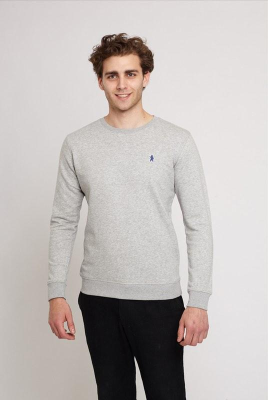 Carlton Urban Grey Organic Cotton Sweater-Absolutely Bear-MAMOQ