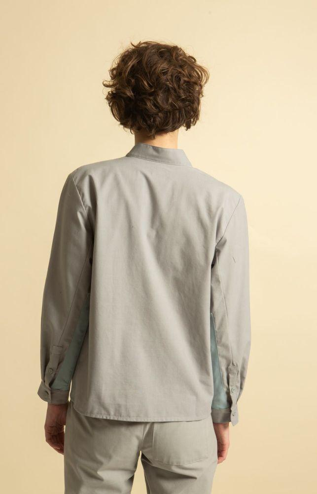 Cella Shirt Light Grey-TAUKO-MAMOQ