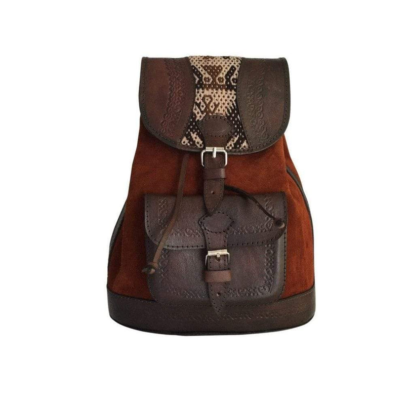 Chachakumani Tan Mono Backpack-Untold Treasures-MAMOQ