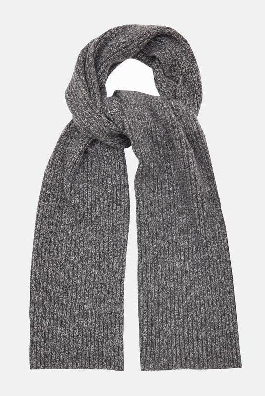 Charcoal Recycled Cashmere Scarf-Riley Studio-MAMOQ