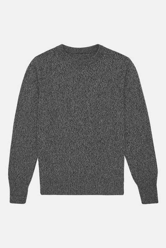 Charcoal Recycled Cashmere Sweater - Unisex-Riley Studio-MAMOQ