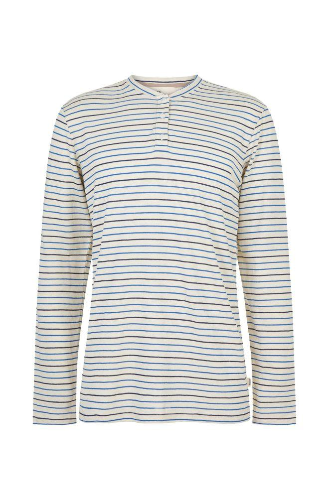 Charlie Striped Hemp Long Sleeve Tee-Komodo-MAMOQ