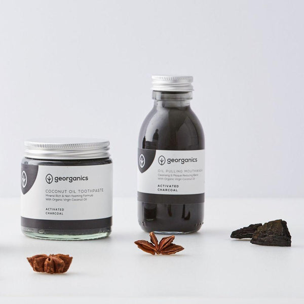 Classic Activated Charcoal Dental Care Set-Georganics-MAMOQ