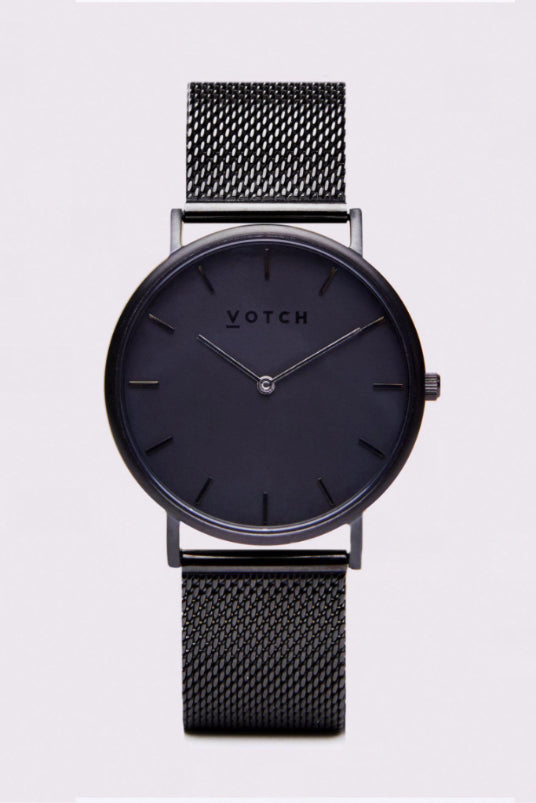 Classic Mesh Black Stainless Steel Watch-Watch-Votch-MAMOQ