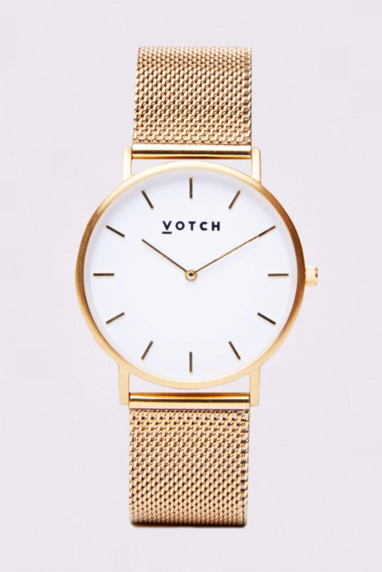 Classic Mesh Gold Stainless Steel Watch-Watch-Votch-MAMOQ