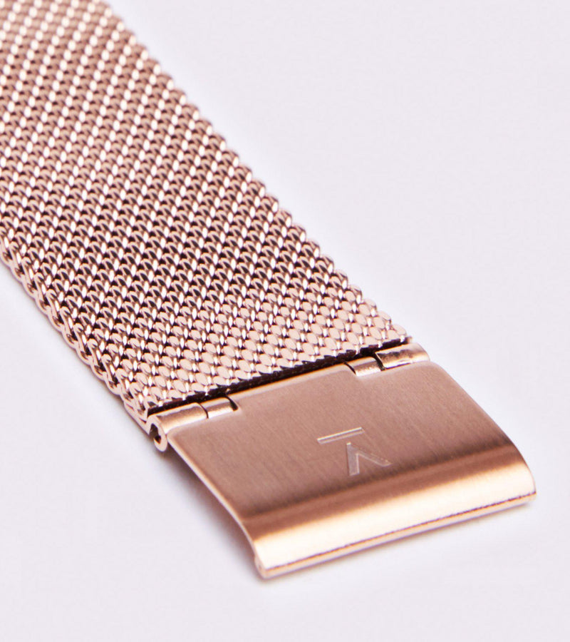 Classic Mesh Rose Gold Stainless Steel Watch-Watch-Votch-MAMOQ