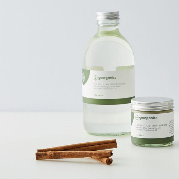Classic Tea Tree Dental Care Set-Georganics-MAMOQ