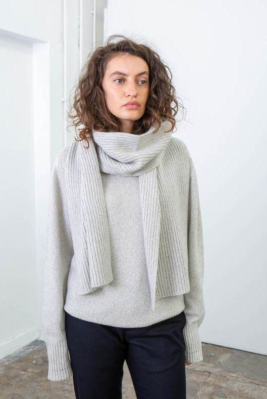Cloud Recycled Cashmere Scarf-Riley Studio-MAMOQ