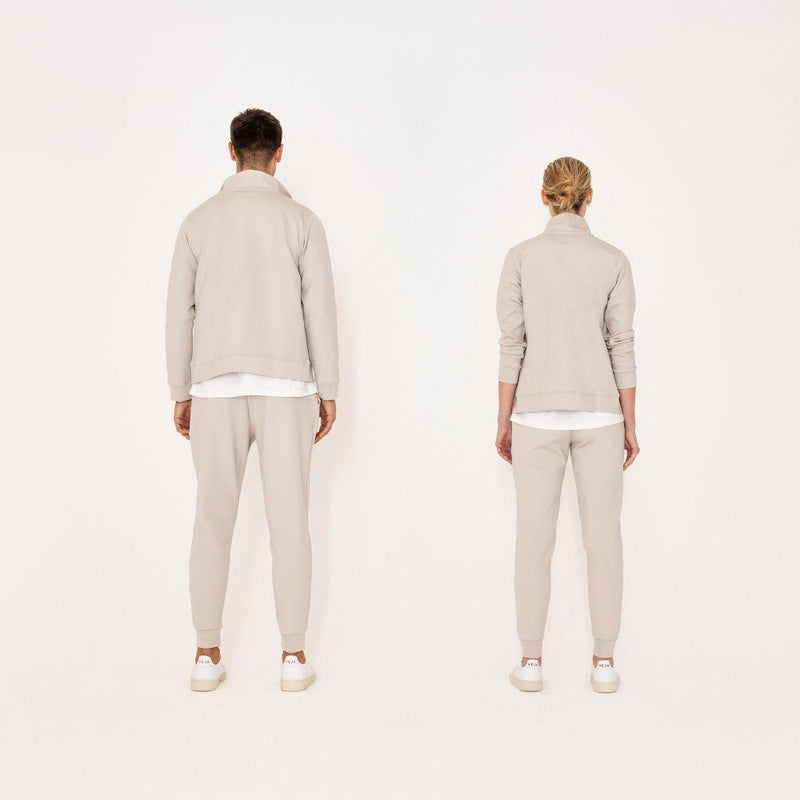 Co-Ord White Track Jacket-Riley Studio-MAMOQ