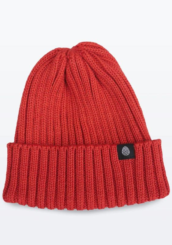 Coral Color British Wool Everyday Trail Beanie-The Level Collective-MAMOQ
