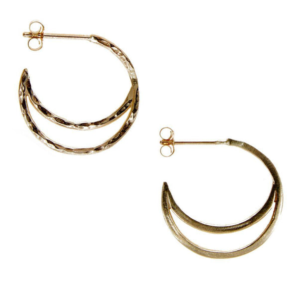 Crescent Hoop Earrings-KIND Jewellery-MAMOQ