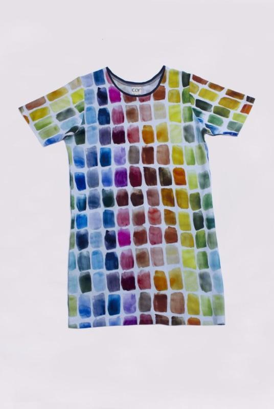 Dali T Dress in Palette-Cor-MAMOQ