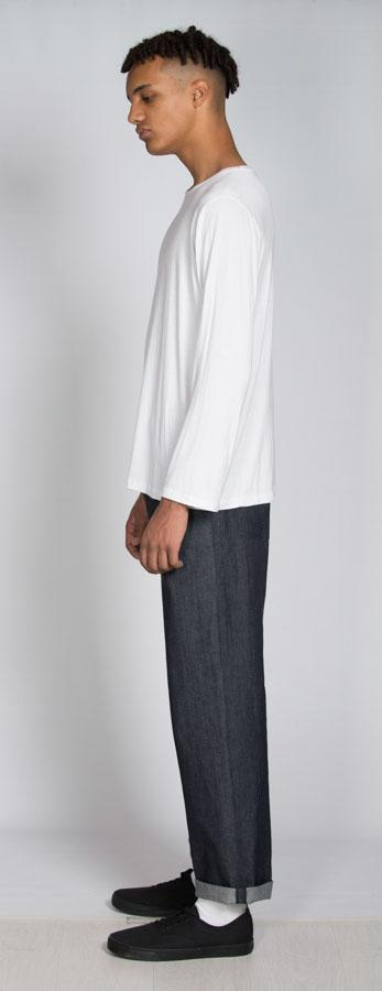 Dark Blue Straight Leg Organic Cotton Jean-Rozenbroek-MAMOQ