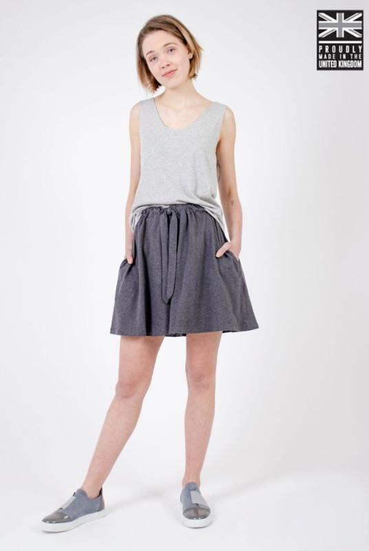 Dark Grey Organic Cotton Shorts-Zola Amour-MAMOQ