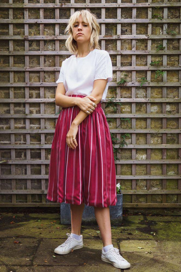 Davina Skirt - Maroon-Gillian June-MAMOQ