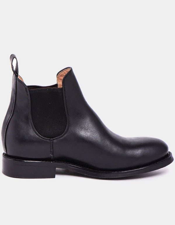 Denise Black Handcrafted Leather Chelsea Boots-Boots-CANO-MAMOQ