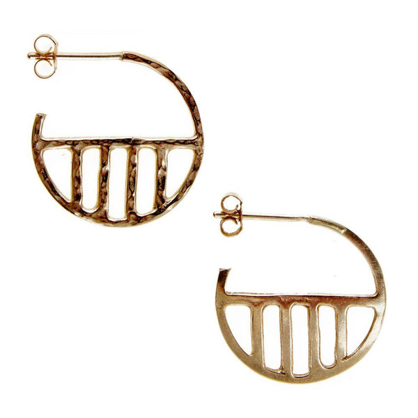 Eclipse Hoop Earrings-KIND Jewellery-MAMOQ