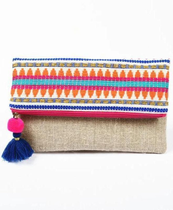 Elina Multicolor Clutch Bag-Handbag-Harfi-MAMOQ