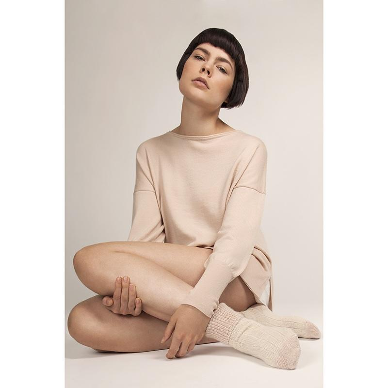 Eloise Merino Wool Blush Jumper-Flock by Nature-MAMOQ