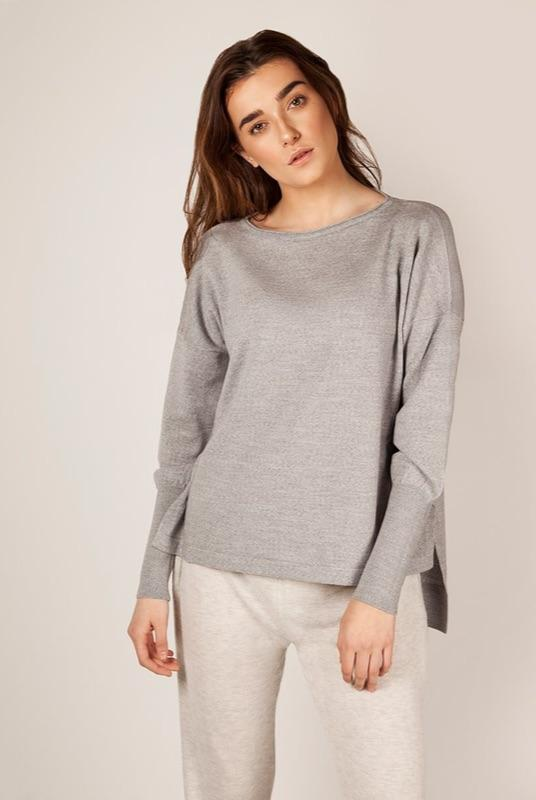 Eloise Merino Wool Grey Jumper-Flock by Nature-MAMOQ