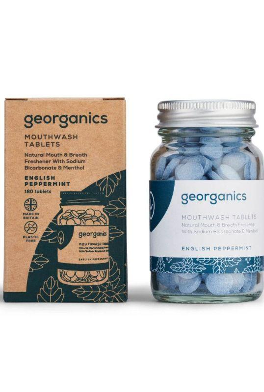 English Peppermint Flavoured Mouthwash Tablets-Georganics-MAMOQ