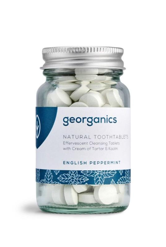 English Peppermint Natural Toothpaste Tablets-Georganics-MAMOQ