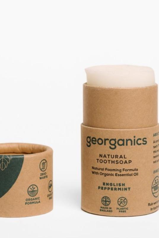 English Peppermint Natural Toothsoap-Georganics-MAMOQ