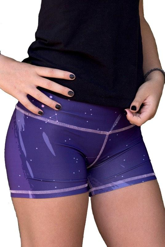 Eter Purple Recycled PET Shorts-The Salvage-MAMOQ